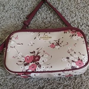 Coach floral crossbody bag